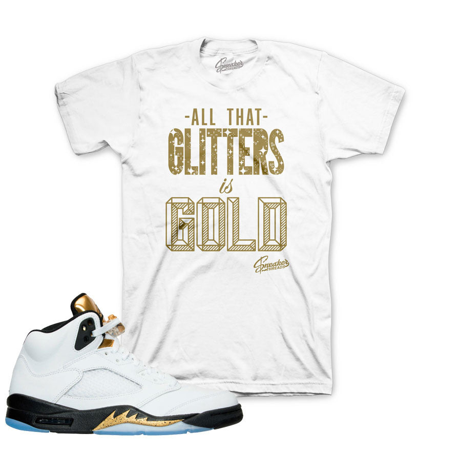 217b3df7b92b25 Shirts match Jordan 5 olympic gold retro 5 gold sneaker shirts.