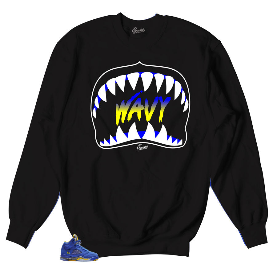 Crewneck collection made to match Retro sneaker Jordan 5 Reverse Laney Collection