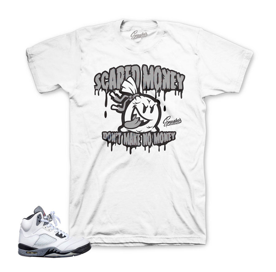 Jordan 5 white cement tee match | sneaker threads official.