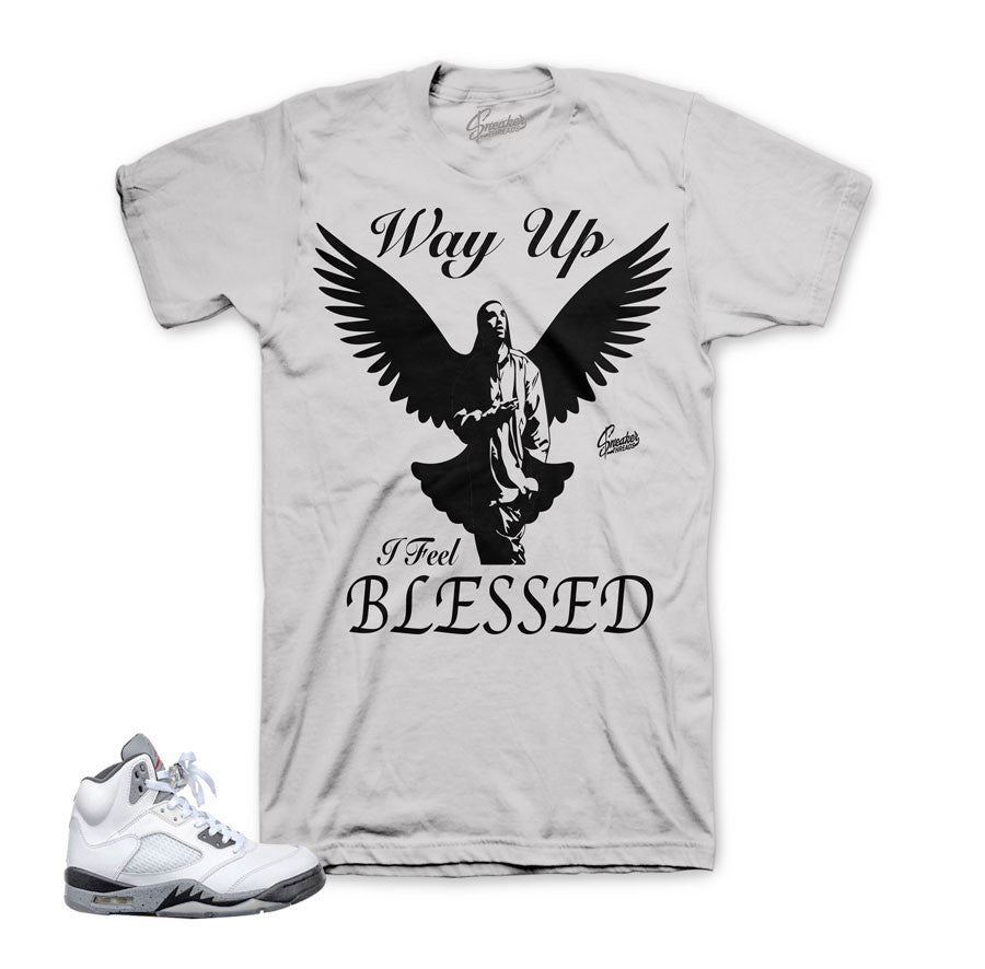 Cement Jordan retro 5 clothing and accessories to match.
