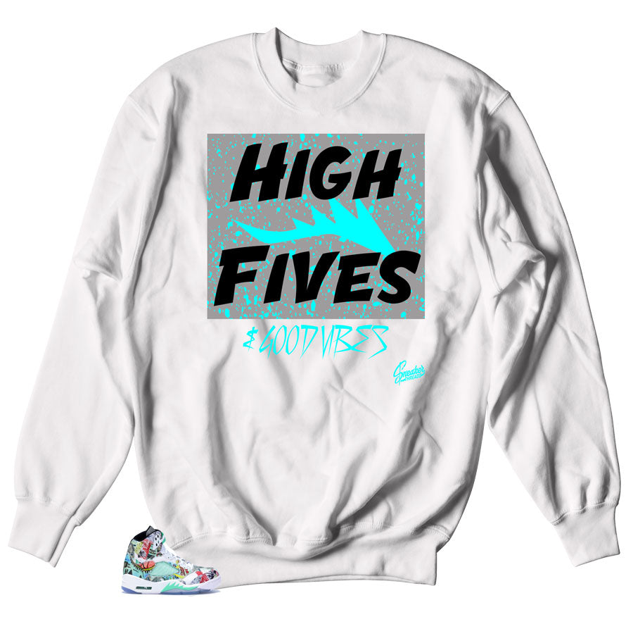 bd850c4f629f1b Home Jordan 5 Wings Sweater - Good Vibes - White. Share