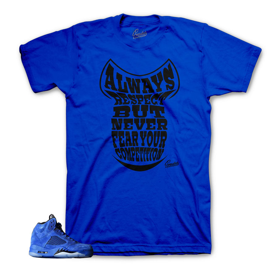 Sneaker shirts official | Blue suede 5 shirts match shoes.