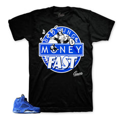 Sneaker threads  | Jordan 5 Blue Suede Match | Sneaker shirts