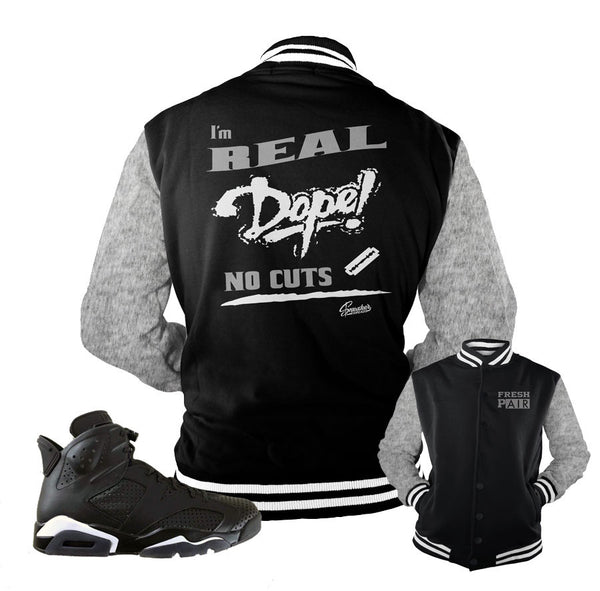Jordan 6 Black Cat Jacket - No Cuts - Black