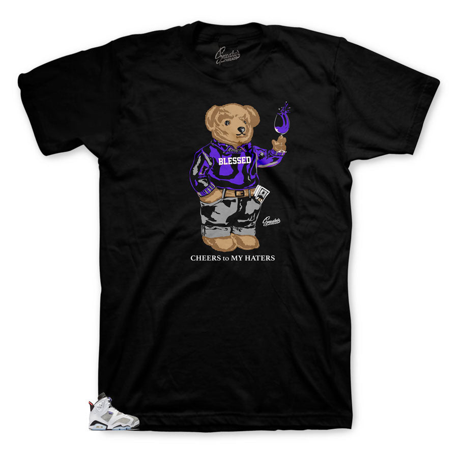 Tee shirt designed to match Jordan 6 Flint sneaker edition