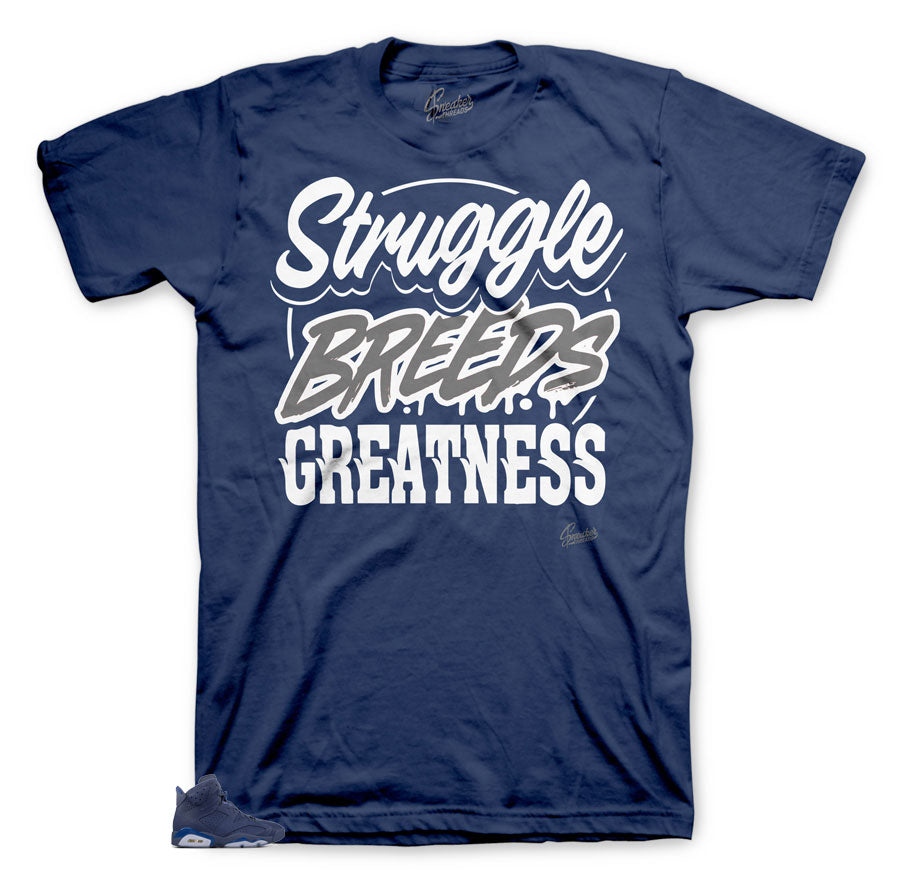 Jordan 6 Diffused Blue Struggle breeds tee