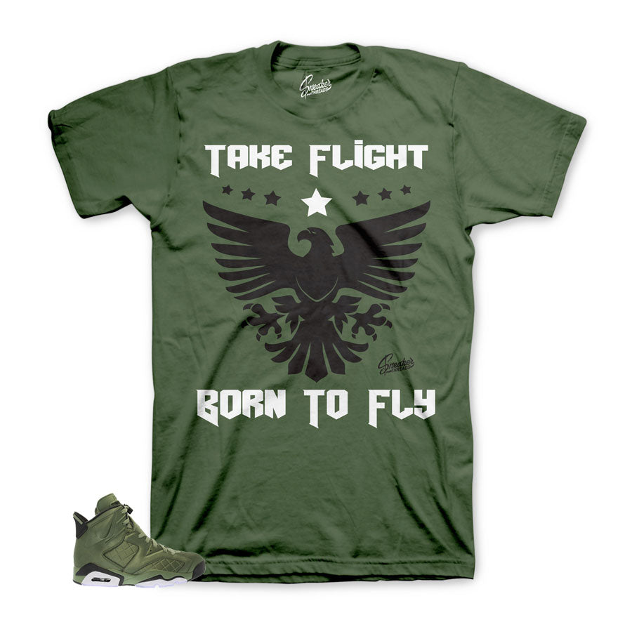 Official Jordan 6 flight jacket shirts and tees match shoes.