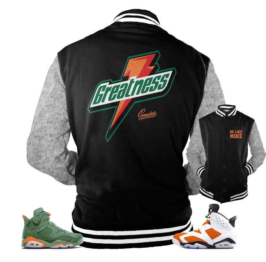 43cd039da04 Jordan 6 gatorade jacket match retro 6 | Official Be like mike jackets