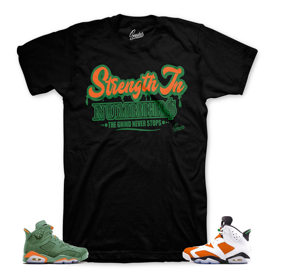64f4f1541f6 Home Jordan 6 Gatorade Shirt - Strength In Numbers - Black. Share