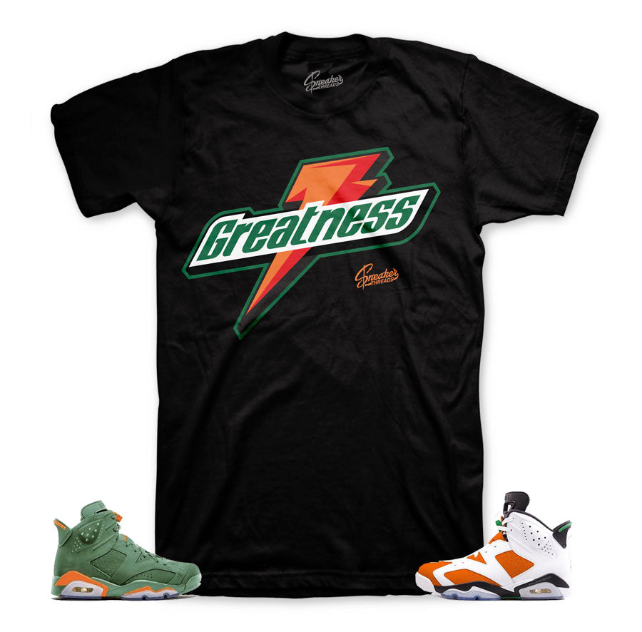 Jordan 6 like mike shirt match retro 6 gatorade inspired tees.