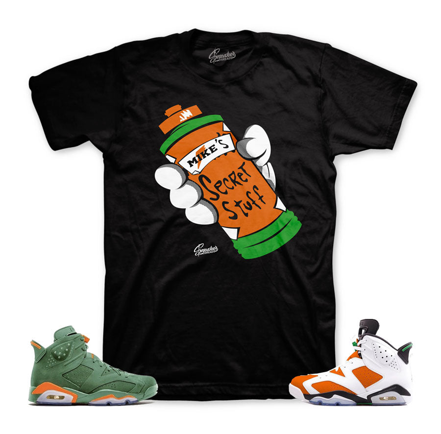 2404bc676a4 Home Jordan 6 Gatorade Shirt - Secret Stuff - Black. Share