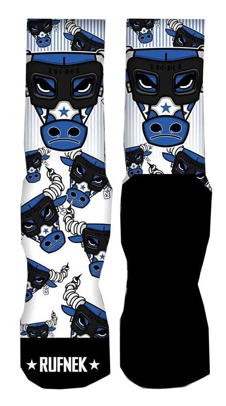 Jordan 6 Sport Blue Elite Socks - War Bully 6.0