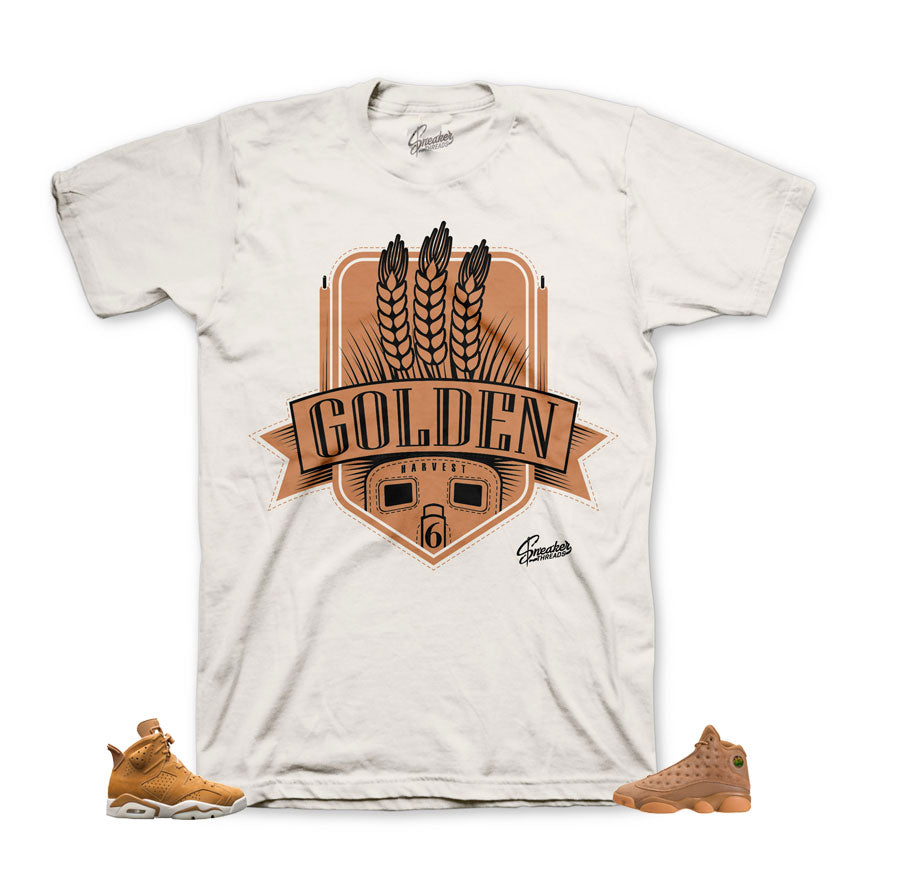 Jordan 6 golden harvest tees match | Retro 6 sneaker tees.
