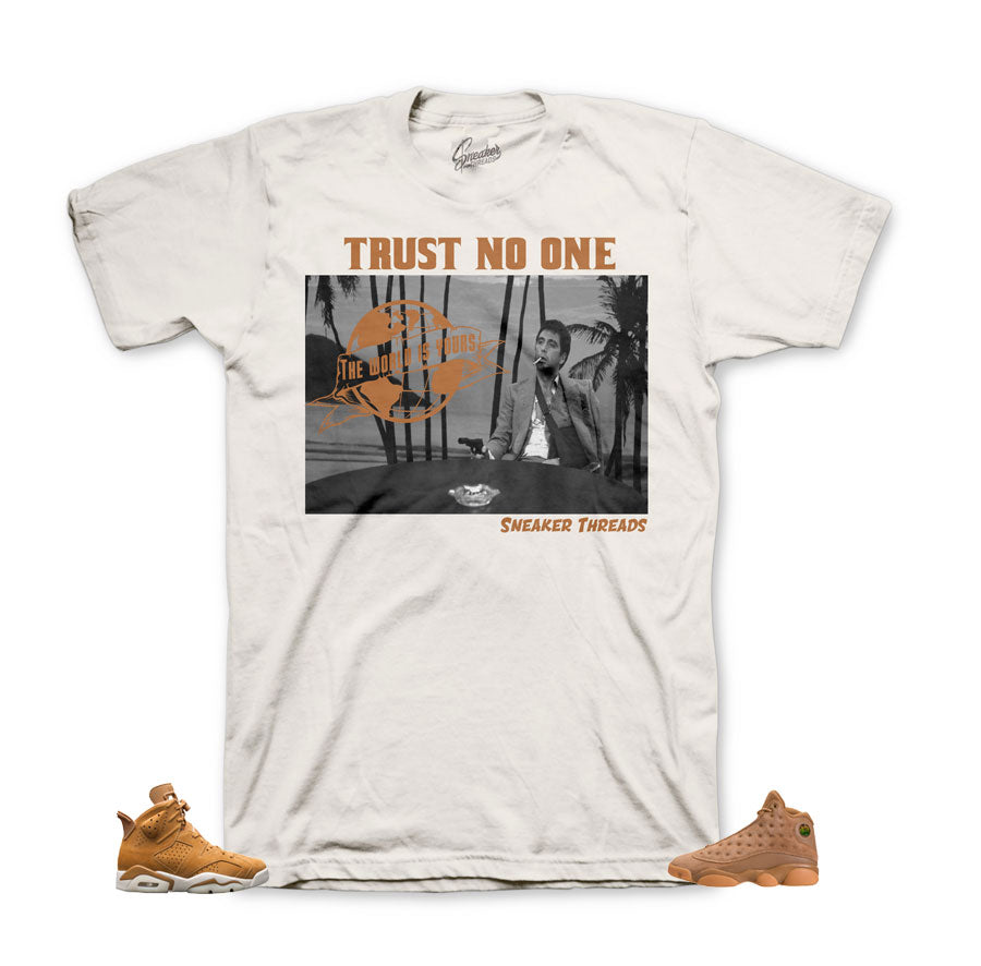 jordan 6 wheat shirts match retro 13's sneaker tees. Scared money tee