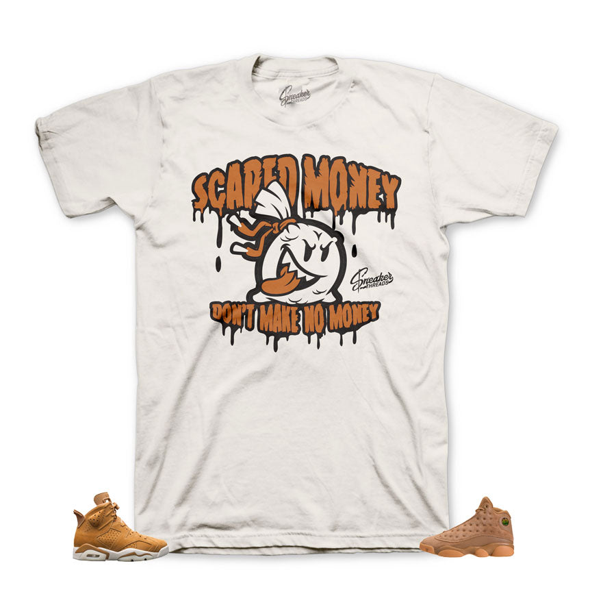 jordan 6 wheat shirts match retro 13's sneaker tees.