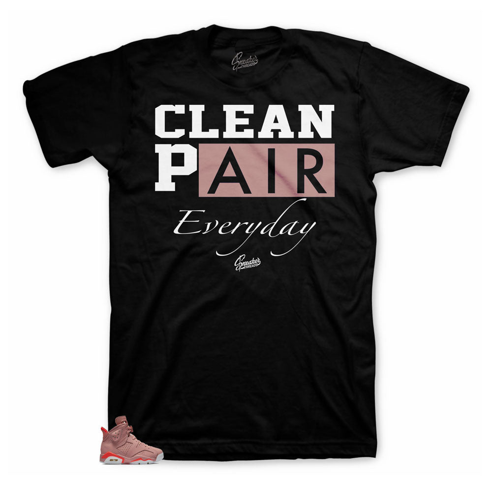 Millennial Pink Jordan 6 sneaker tees match retro 6s shoes.