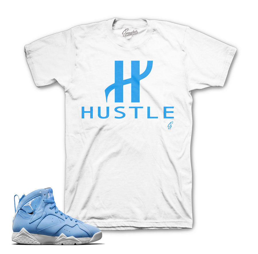 Jordan 7 pantone shirts match retro 7 university blue tee.