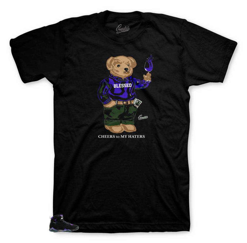 Jordan 7 Ray Allen Shirt - Cheers Bear - Black