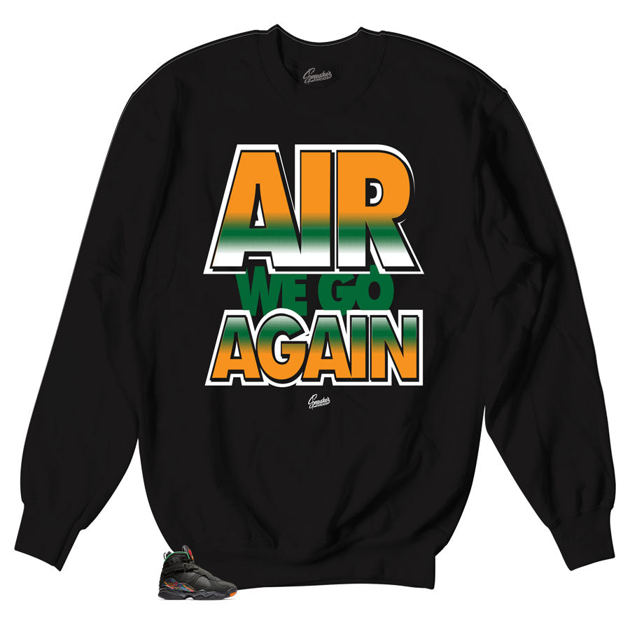 Jordan 8 air raid sweaters match | Retro 8 Crewnecks.