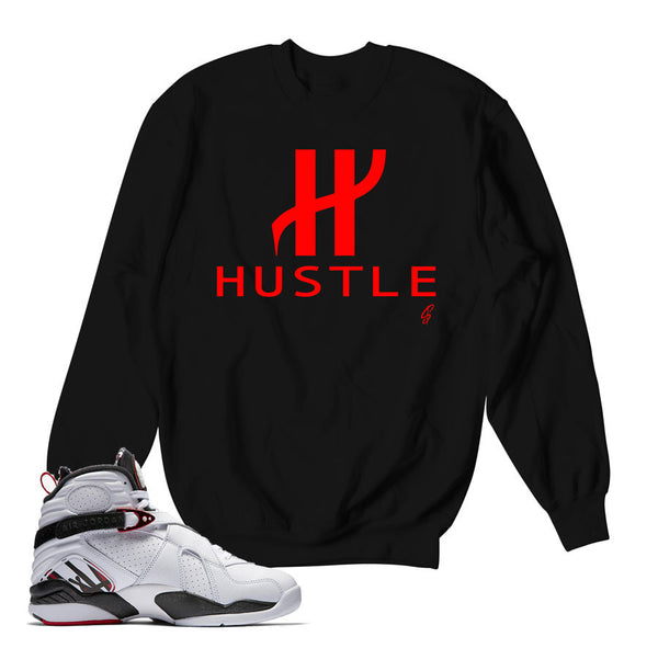 Jordan 8 Alternate Sweater - Big H - Black