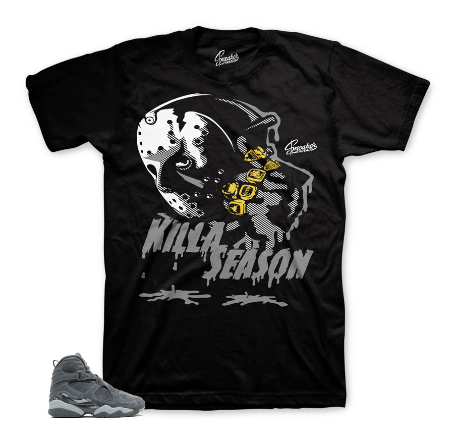 Jordan 8 cool grey shirts match retro 8's sneaker tee.