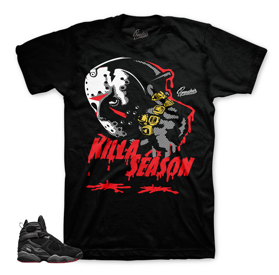 Jordan 8 bred tees match | Newest sneaker match clothing.