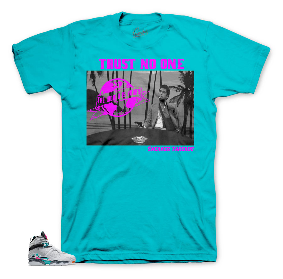 Cool scarface shirts to match Jordan 8 South Beach perfect