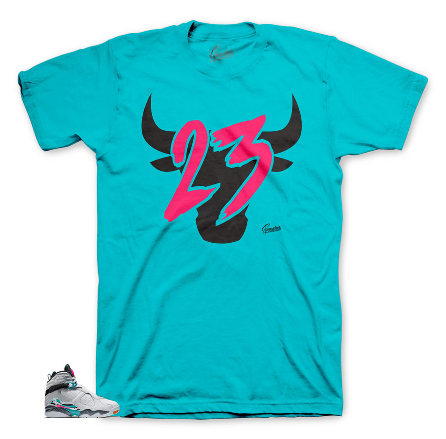 Jordan 23 toro shirts to match South Beach 8's
