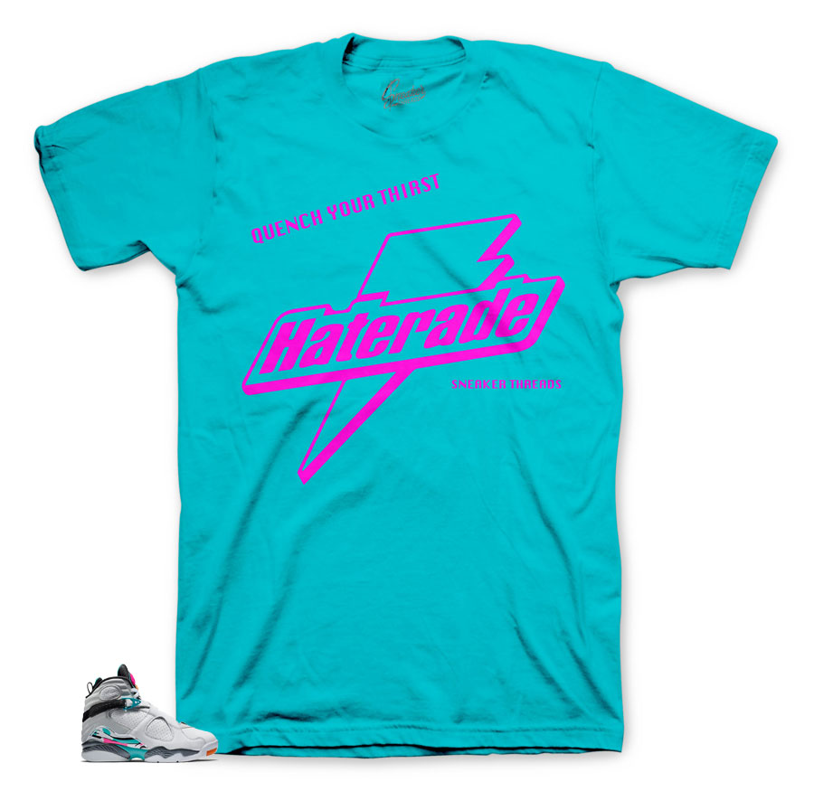 Jordan 8 South Beach Haterade tee