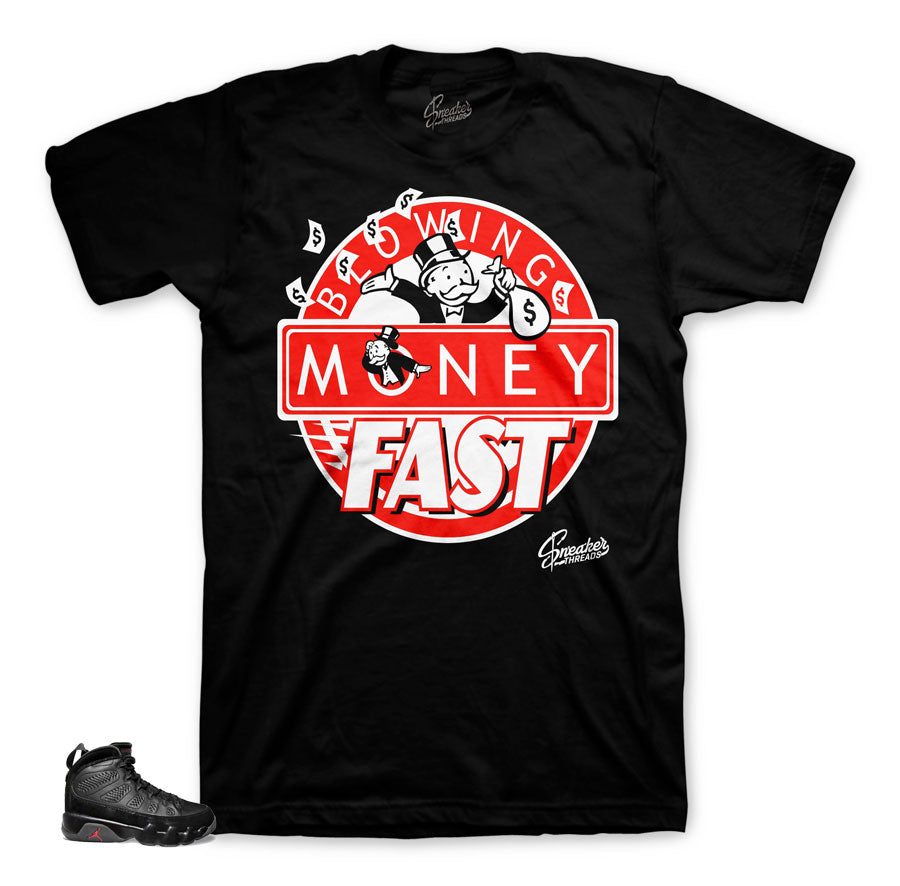 Bred Jordan 9 sneaker tees match | The best shirts match bred 9.