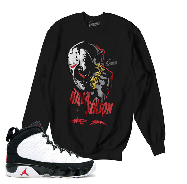 Jordan 9 OG Sweater - Killa Season - Black