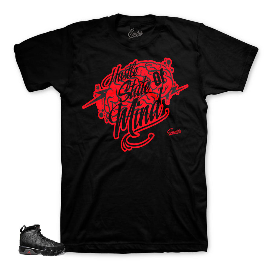 Bred 9 sneaker tees match shoes. Bred 9 apparel for retro 9 shoes.