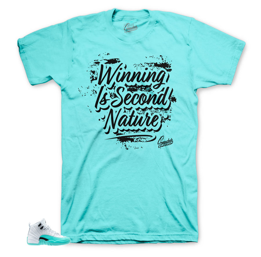 Jordan 12 Light Aqua Second Nature Shirt