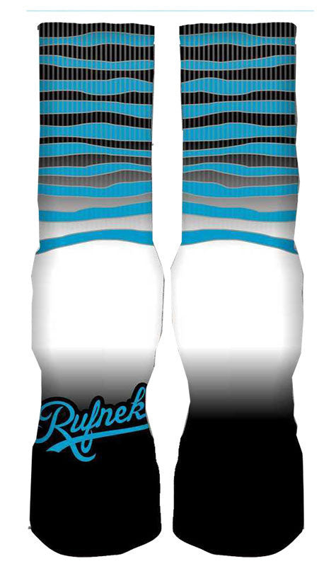 Jordan 10 Powder Blue Elite Socks - X Bully - Black