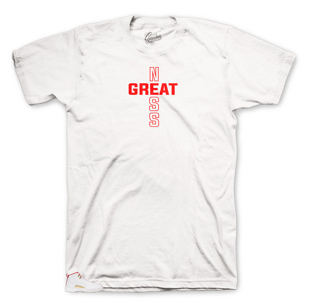 Jordan 12 Fiba Greatness Shirts To Match Fit Retro 12s Fiba