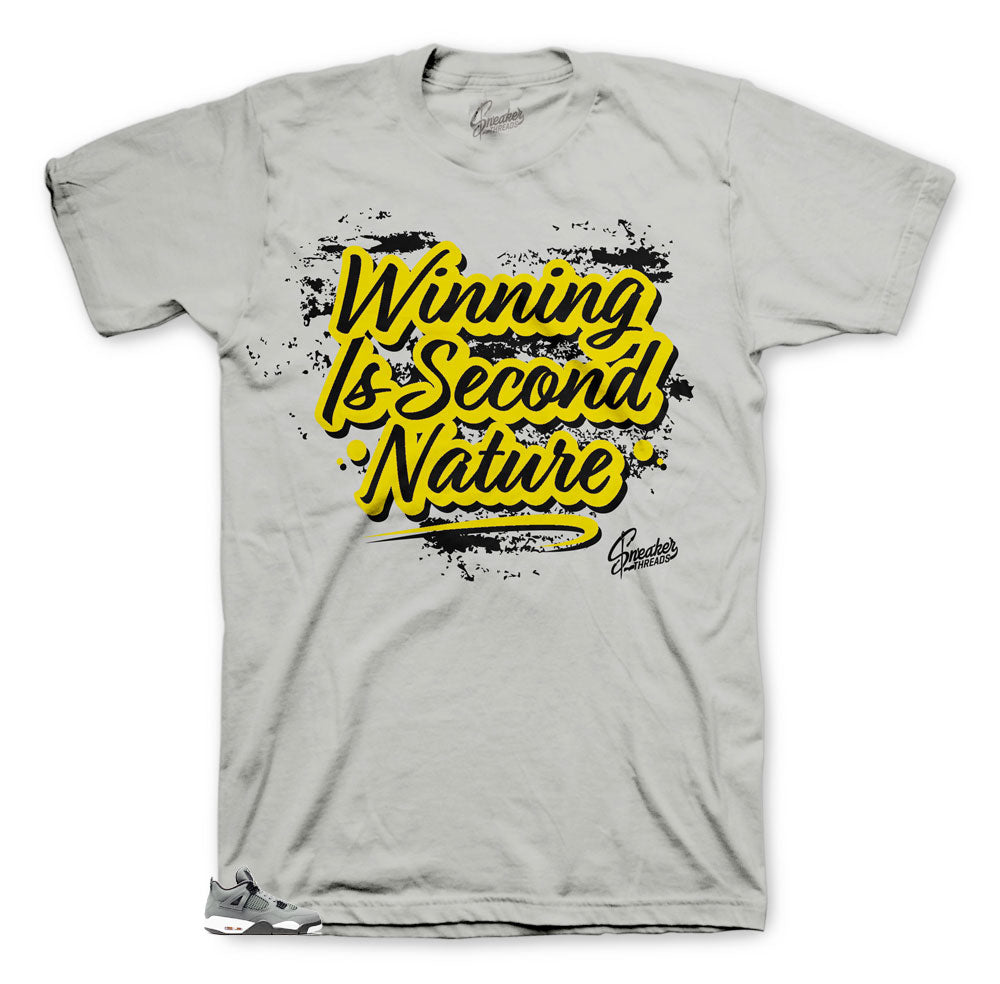 Jordan 4 Cool Grey Second Nature shirt match fit
