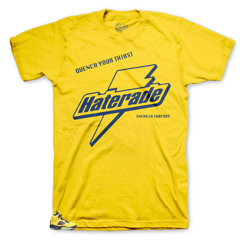 Jordan 5 Michigan Haterade shirt to match perfect for sneakers