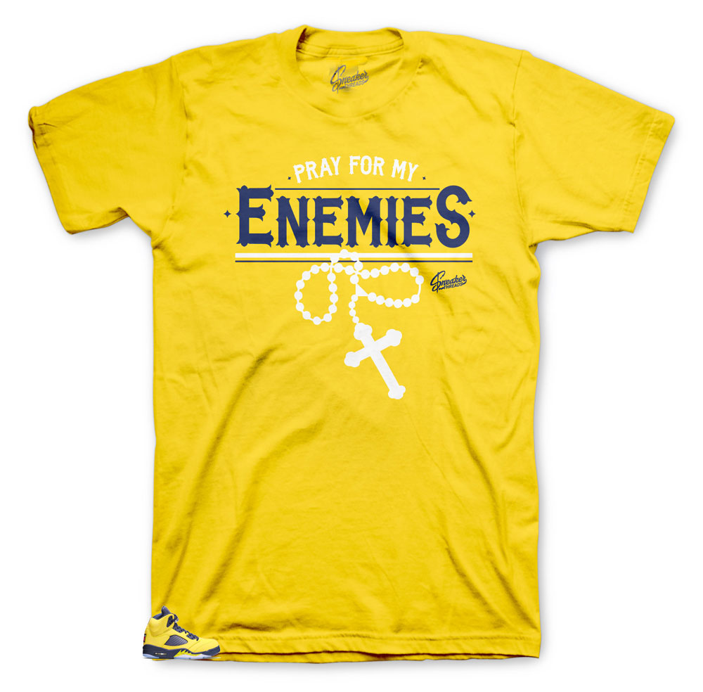 Michigan 5 Enemies shirt to wear with fit perfect