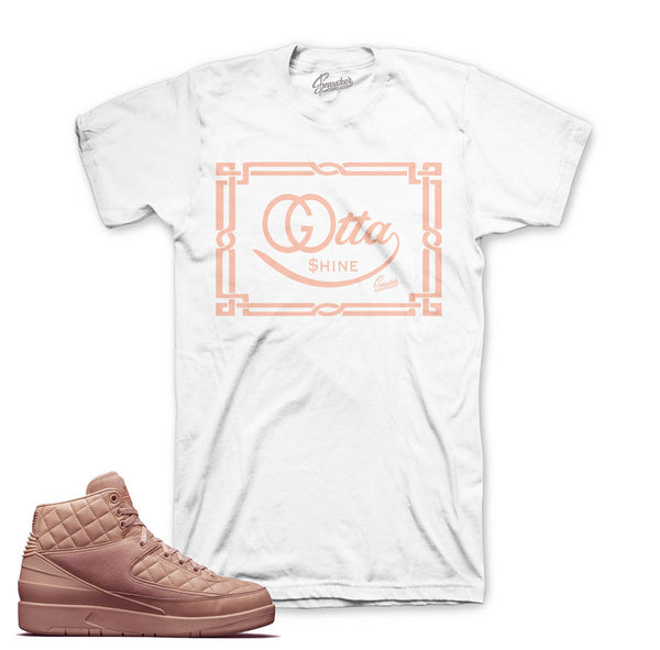 Jordan 2 Just Don Shirt - Gotta Shine - White