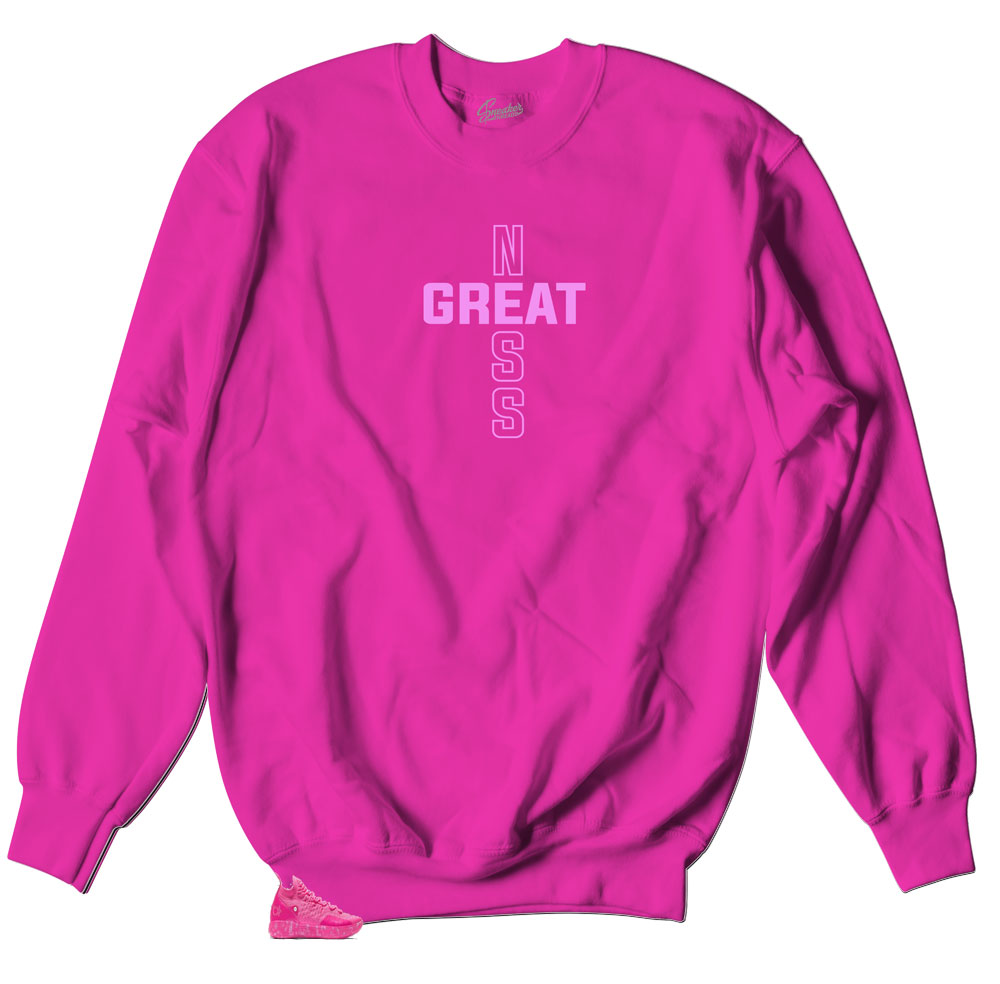 sweater designed perfectly to match kd 11s aunt pearl sneakers