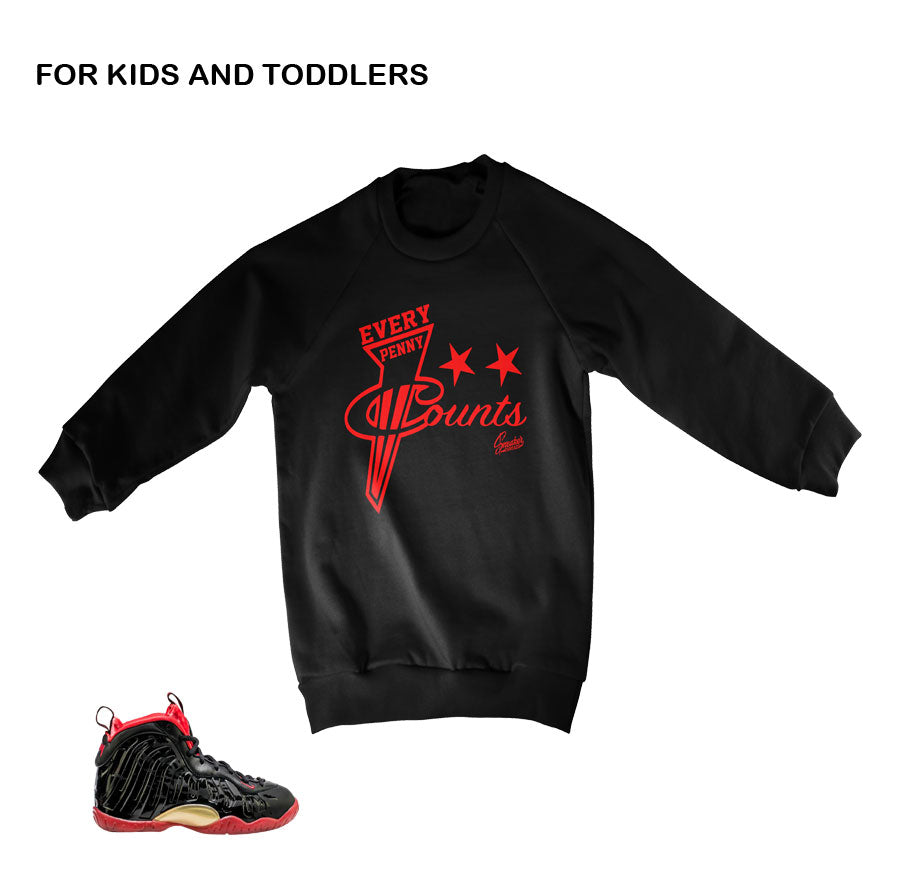 Sweaters match vamposite shoes | Lil posite sneaker tees.