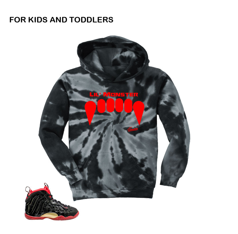 best website ae5fb 39e33 ... Legion Green Sweater - Foam Hunter - Black Kids Vamposite Hoody - Lil  Monster Maroon Foams Matching ...