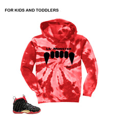 Kids foam hoodies match vamposite shoes | Lil posite dracula hoody.