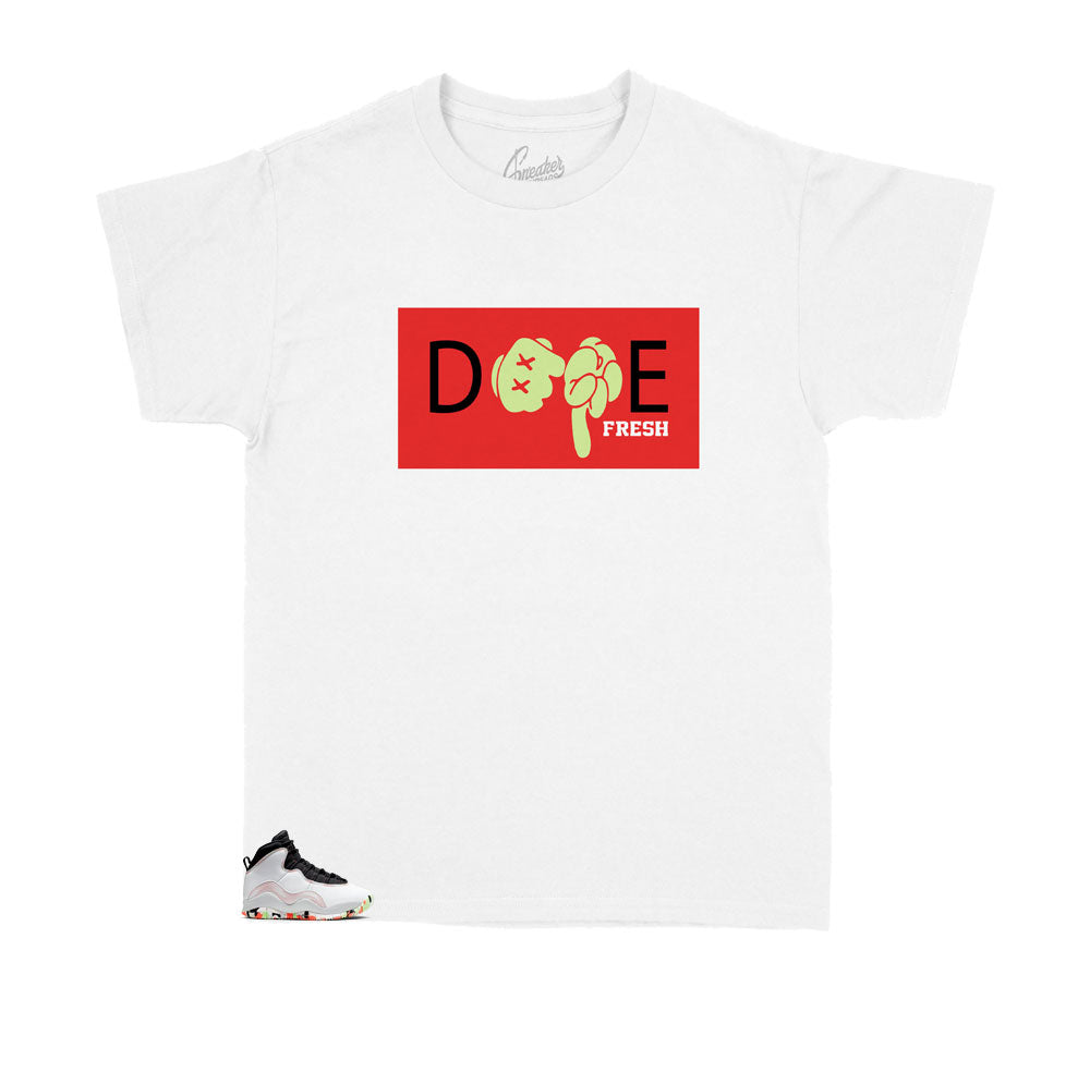 Jordan 10 Ember Glow DPE Hands shirt to match fit