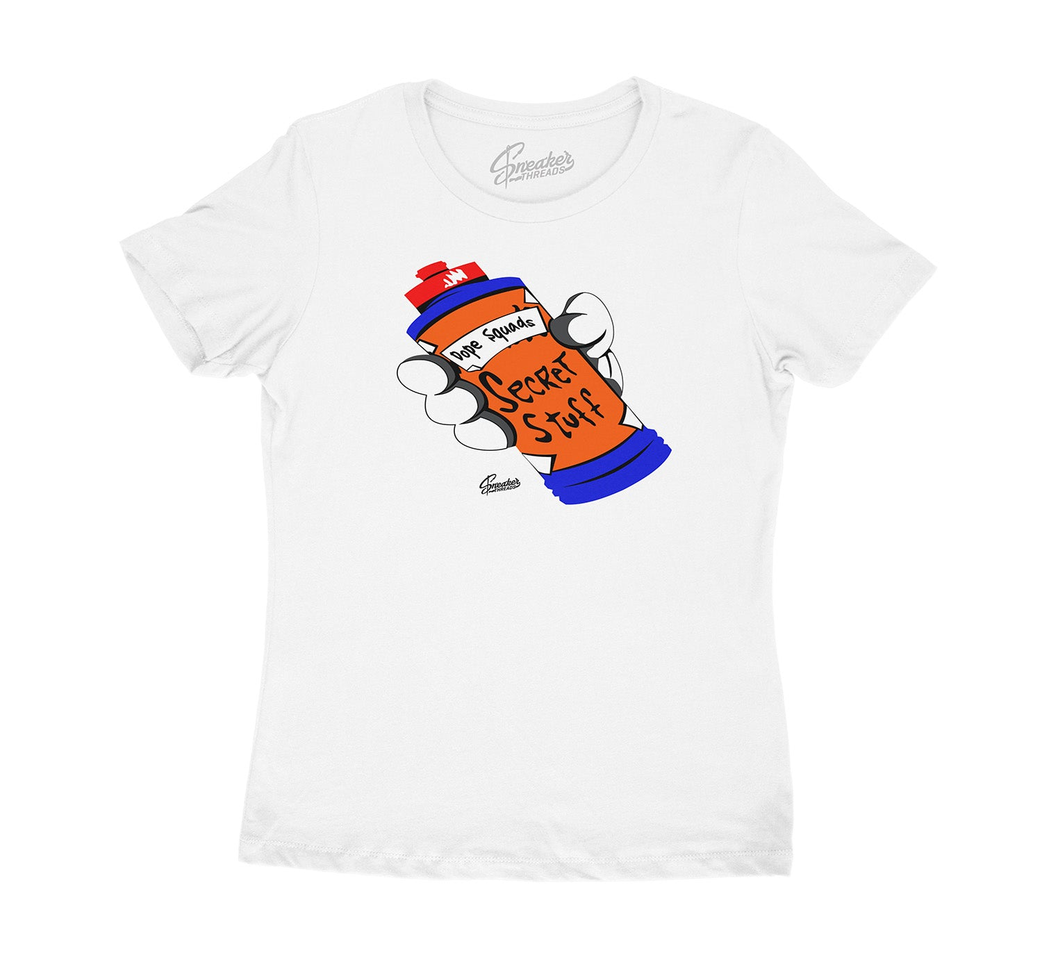 Womens Knicks 3 Shirt - Secret Stuff - White