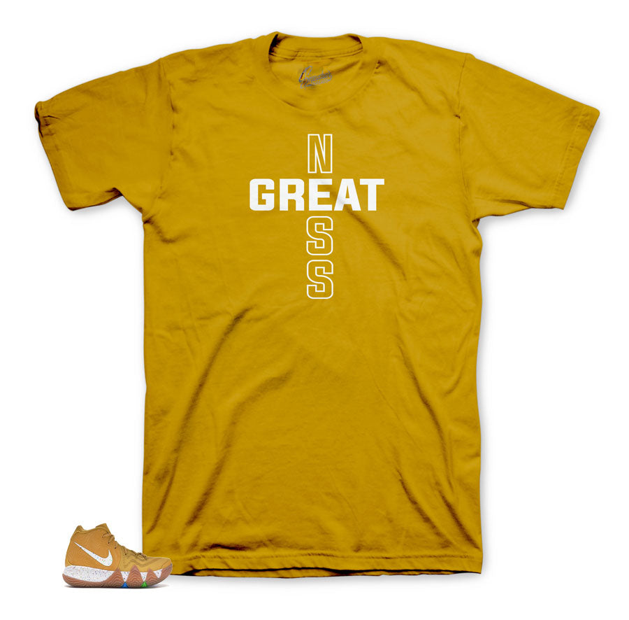 Kyrie 4 Cinnammon greatness shirt
