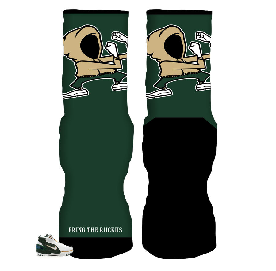 Lebron svsm sneaker matching socks to match Lebron shoes.