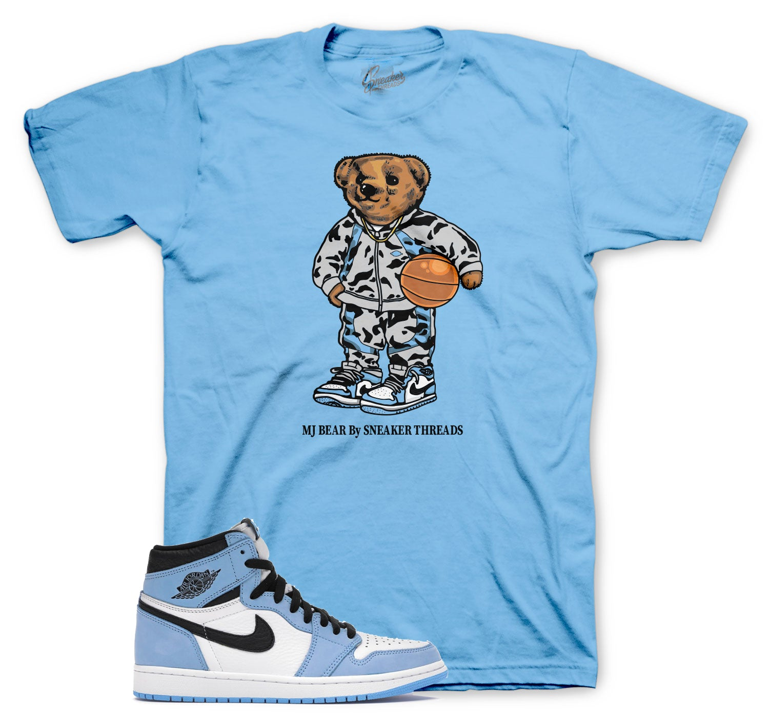 Mens Clothing matches with jordan 1 university blue sneaker collection perfectly