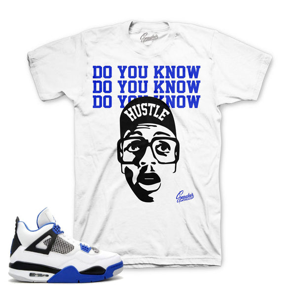 Jordan 4 Motorsports Shirt - Do You Know - White