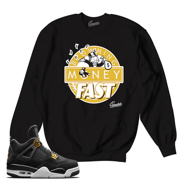 Jordan 4 Royalty Sweater - Blowing Money Fast - Black